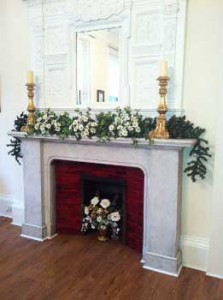 Christmas Roses Mantelpiece