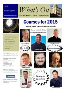 What's On Brochure 2015 front page