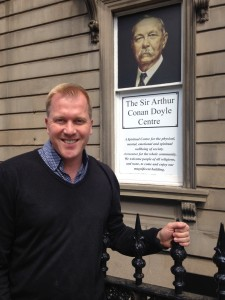 Tony Stockwell at The Sir Arthur Conan Doyle Centre.