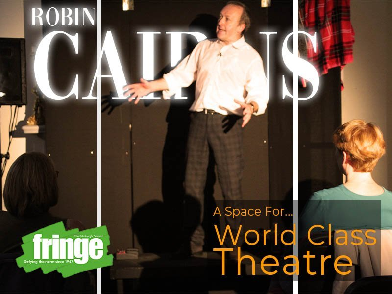 Robin Cairns at the Fringe at the sir arthur conan doyle