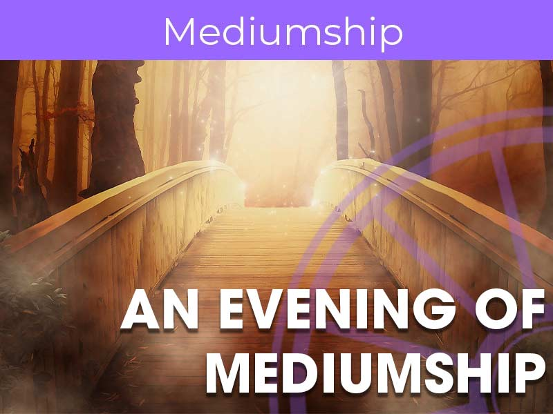 An evening of mediumship takes place every week online via the sir arthur conan doyle centre