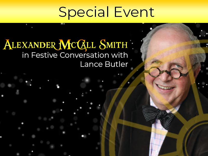 An evening with Alexander McCall Smith at the SIr Arthur Conan Doyle Centre