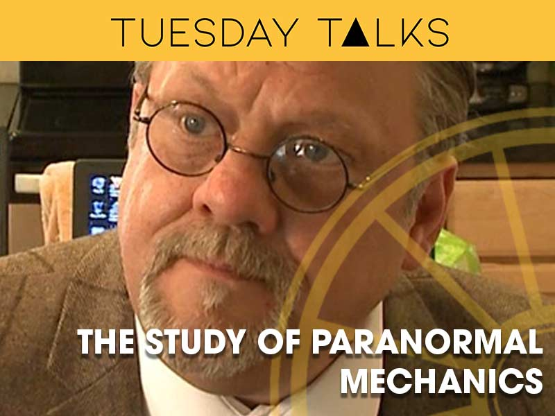 Steve Mera presents a Tuesday Talk which explores the mechanics of paranormal activity for the Sir Arthur Conan Doyle Centre